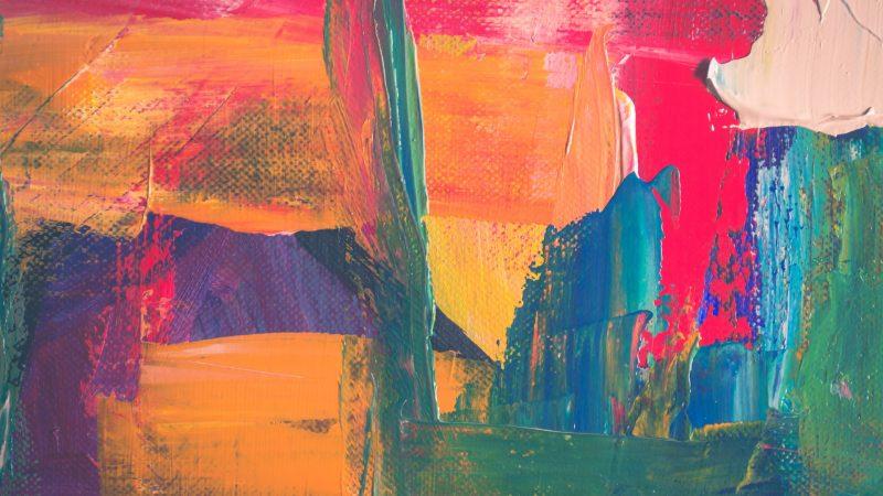 acrylic art brush canvass image